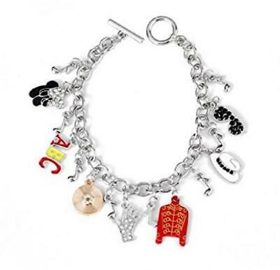Michael Jackson Themed Assorted Silver  Charms BRACELET Comes In Lovely Gift Box • 16.33£