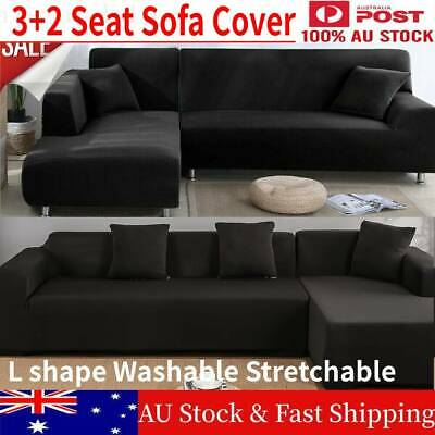 AU54.98 • Buy 2+ 3 Seater Stretch Sofa Couch L Lounge Shape Cover Washable Protector Slipcover