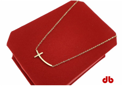 Gold Chain Celebrity Necklace Surgical Steel Blueberry, Łańcuszek Z Krzyżem • 11£