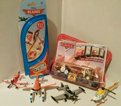 Disney Pixar Cars & Planes + Helicopter - Collection Of Toys - FREE UK SHIPPING • 23.99£