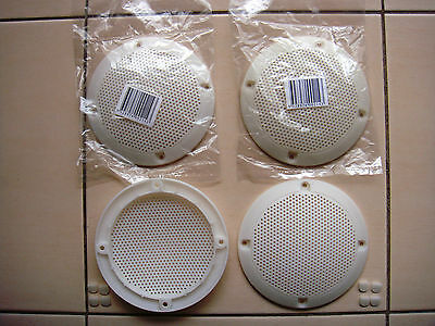 AU19.95 • Buy 4 Inch WHITE Speaker Grills With Screw Covers Set Of 4 !BARGAIN PRICE - MUST GO!