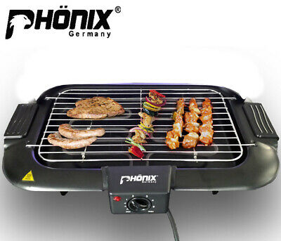Smokeless Electric Barbecue BBQ Grill 2000W With Thermostat And UK Plug • 22.70£
