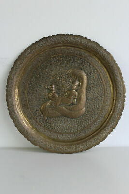 Indian Brass Decorative Tray Wall Hanging Charger Plate • 85£
