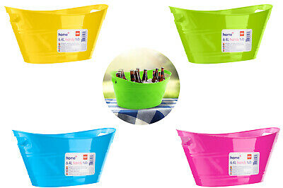 6.4L Plastic Ice Bucket Cooler Bowl Flex Party BBQ Summer Party Drinks Beer Wine • 5.99£