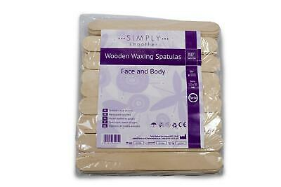 £2.99 • Buy Wooden Wax Spatula Applicator Sticks | Simply Smoother | Pack Of 100