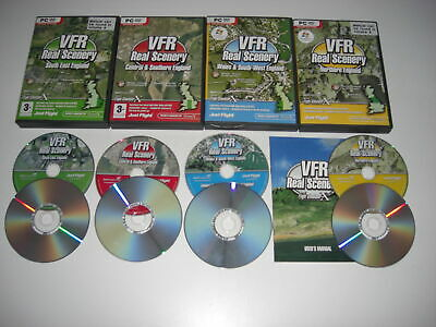 VFR REAL SCENERY England & Wales Volumes 1 2 3 & 4 The Collection Pc Add-On FSX • 29.99£
