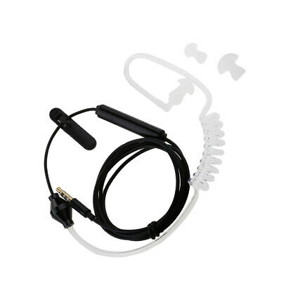 Spiral Acoustic Air Tube 3.5mm Anti-radiation Mic Headphone Earphone Black • 4.45£