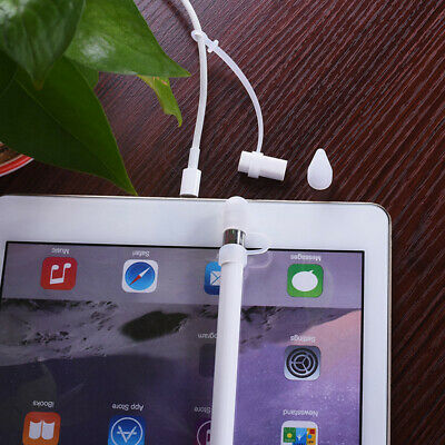 Stylus Pencil Cap Holder+ Tip Cover +Cable Adapter Tether For IPad Pro Clear • 3.99£