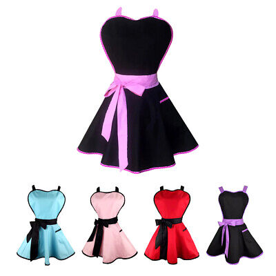Lady Princess Apron Cotton Apron With Pocket For Woman Cooking 5 Colors • 11.96£