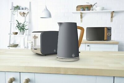 Swan Nordic Jug Kettle, Toaster & 800W Microwave - Multiple Colours - Brand New • 219£