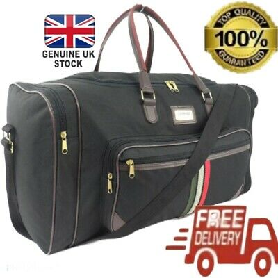 Large 22  Travel Overnight Cabin Hand Luggage Bag Gym Sports Holdall Duffel Case • 11.95£