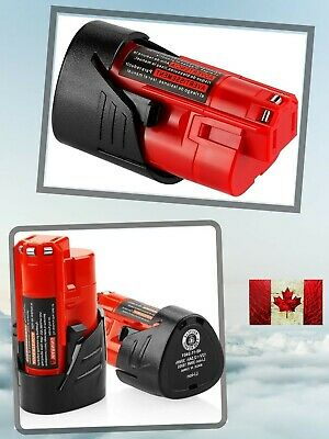 $ CDN41.99 • Buy Replacement Battery For Milwaukee Cordless Tool M12 12V 2500mAh Lithiumion 2Pcs