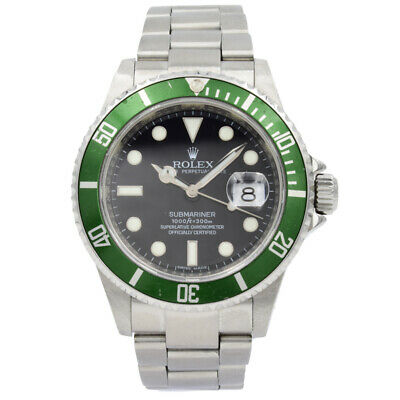 $ CDN22583.47 • Buy Rolex Submariner 16610V  Kermit  Anniversary Edition Green Bezel W Box & Papers