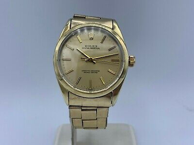 $ CDN4670.37 • Buy *Very Rare* Vintage 1969 Rolex Oyster Perpetual Gold Plated Watch 1024 W/ Box