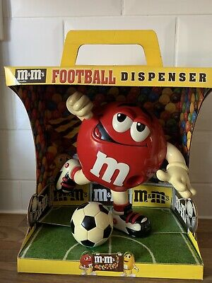 M&M's Chocolate Football Dispenser - Vintage Collectible - Rare In Box • 39.99£