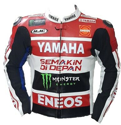 Yamaha Motorbike Original Cowhide Leather Jacket With CE Approved Protections • 119.99£