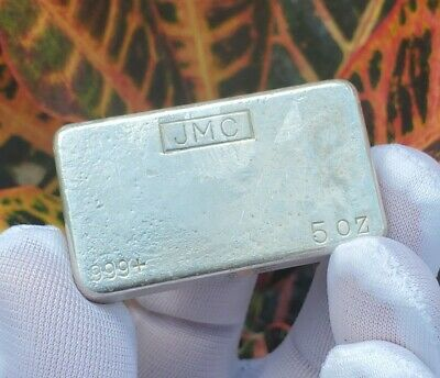 $ CDN381.76 • Buy Vintage JMC Johnson Matthey Canada 5 Troy Oz .999 Silver Hand Poured Bar - Rare!