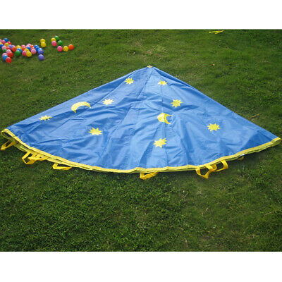 10Ft 8 Handles Kid Play Parachute Indoor & Outdoor Family Game Exercise Toys • 23.91£