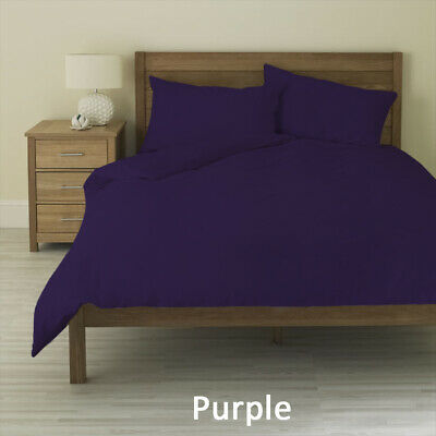Duvet Cover Collection All UK Size 1000 TC Egyptian Cotton Purple Solid • 74.99£