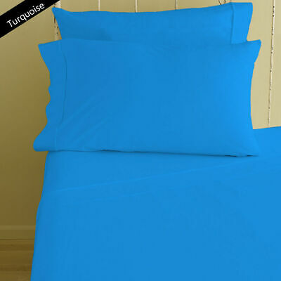 Duvet Cover Collection All UK Size 1000 TC Egyptian Cotton Turquoise Solid • 74.99£