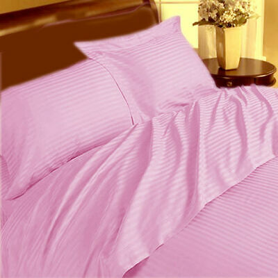 Duvet Cover Collection All UK Size 1000 TC Egyptian Cotton Pink Stripe • 53.99£