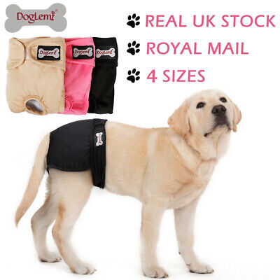 S-XL Female Dog Diaper Physiological Sanitary Pants Nappy Reusable Dog Underwear • 7.59£