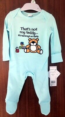 Embroidered Teddy Bear Babygrow Unisex Sleepsuit Up To 3 Months Old • 3.99£