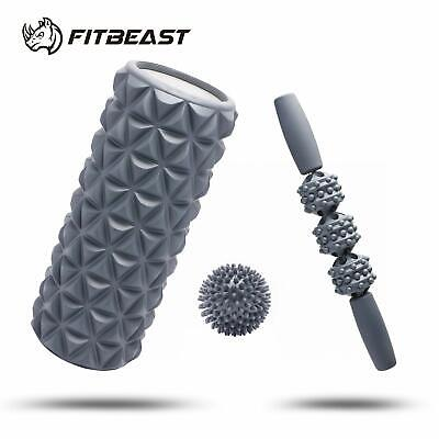 AU54.16 • Buy FitBeast Foam Roller Set 2 In 1 For Deep Tissue Muscle Massage, Trigger Point