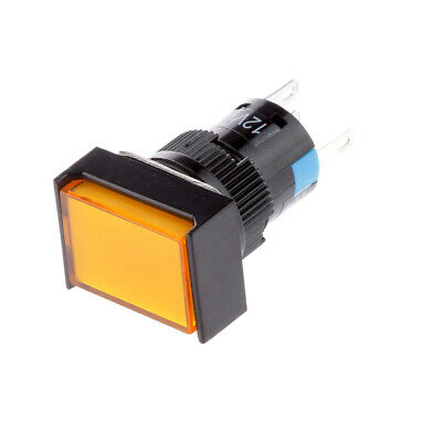 LED Illuminated Momentary Push Button DC 12V Switch For Contactor Yellow • 3.99£