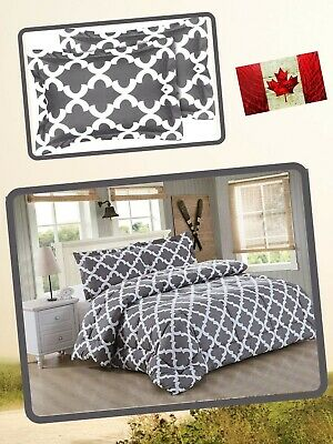 $ CDN30.56 • Buy Down Alternative Comforter Set With Two Pillow Shams Machine Washable Queen Grey