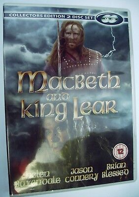 MACBETH AND KING LEAR DVD 2 Disc Set Brian Blessed Jason Connery Helen Baxendale • 7.50£