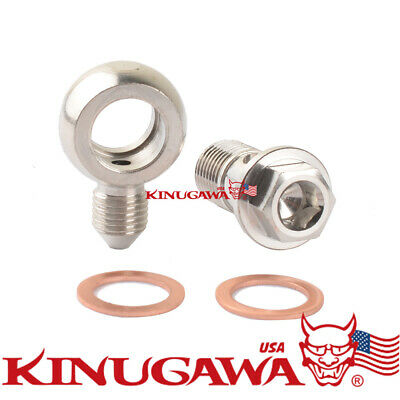 $14.90 • Buy Turbo Banjo Bolt Kit M14x1.5 Mm To 4AN GT28R GT30R GT35R /ideal For Tight Spaces