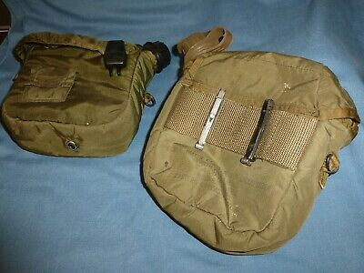 $ CDN25.02 • Buy 2 Vintage Military  2 QT Collapsible Canteen With Pouch