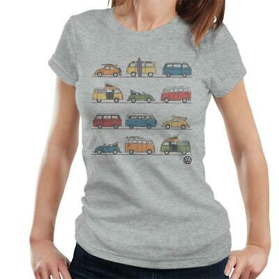Official Volkswagen Vans And Beetles Women's T-Shirt • 15.95£