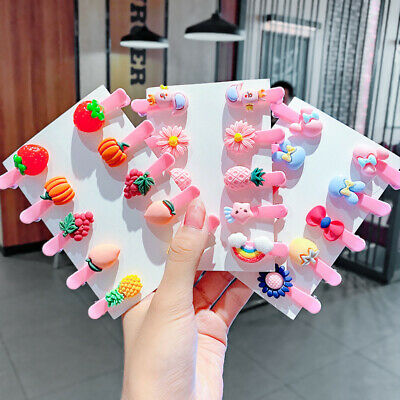 $2.25 • Buy 10pcs/set Children Flower Fruit Hairpin Hair Clips Girls Candy Hair Accessories
