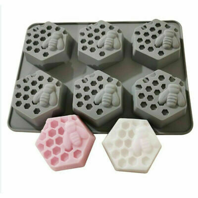Honey Bee Silicone Mould Soap Candle Clay Beeswax Wax Cake Mold DIY Craft UK • 5.19£