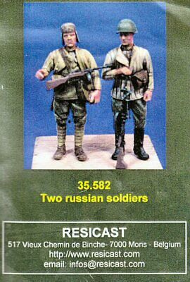 Resicast 35.582 Two Russian Soldiers Figure Set 1/35 Scale Model Resin Figures • 19.95£