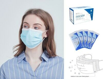 AU25.33 • Buy LEVEL 2, 4ply Surgical Face Mask, Medical Dental Facemask Ear Loop, Pkt 50pc