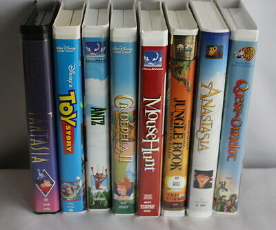 $ CDN34.63 • Buy Lot Of 8 Animated VHS Jungle Book Mouse Hunt Antz Toy Story Cinderella 2