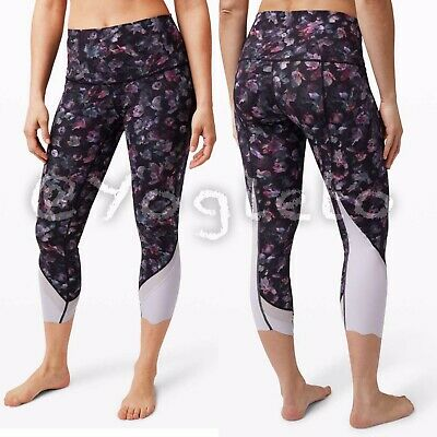 "$ CDN120 • Buy Lululemon Wunder Under Crop 23"" Scallop NWT 4 6 High Rise Activate Floral Multi"