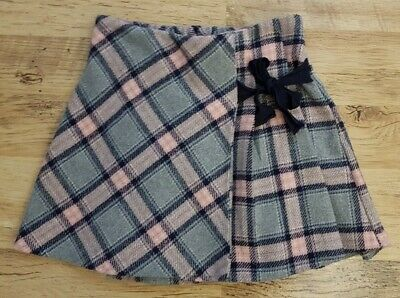 Girl Kid Skirt Pink Grey Checked Dress Size 5-6 Years • 1.20£