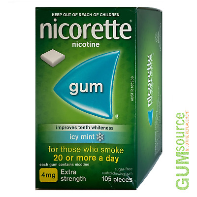 $ CDN16.73 • Buy Nicorette 4mg COATED ICY MINT  1 Dented Box 105 Pieces Nicotine Quit Smoking Gum