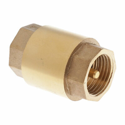 AU13.34 • Buy 1/2  DN15 Brass Non-return One Way Check Valve Vertical In-line Spring Loaded