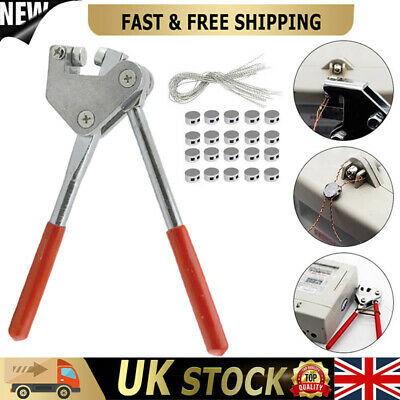 20X Round Lead Electric Meter Security Seal Pliers Red Plastic Coated Handle MO • 15.54£