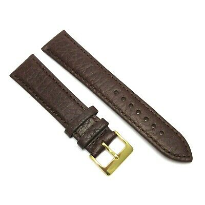 Quality Italian Brown GENUINE Calf LEATHER Watch STRAP Band For Longines Omega • 13.95£