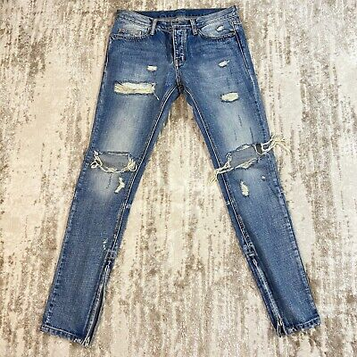 $ CDN106.06 • Buy Mnml Indigo Knee Blow Out Denim' Jeans