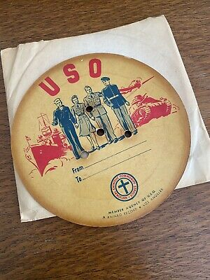 $5.95 • Buy USO American Red Cross Flexi Disc 78 Rpm Record WWII W/sleeve
