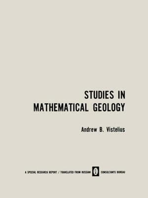 £77.80 • Buy Studies In Mathematical Geology