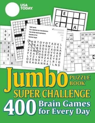 $11.82 • Buy USA Today Jumbo Puzzle Book Super Challenge: 400 Brain Games For Every Day
