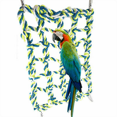 Parrot Net Pet Bird Swing Hanging Hammock Perch Toys Hamster Rope Ladder Cage UK • 5.59£